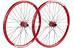 """Spank Spoon32 EVO Koło 26"""" Przednie koło: 20/110 mm, Tylne koło: 12/150 mm czerwony"""